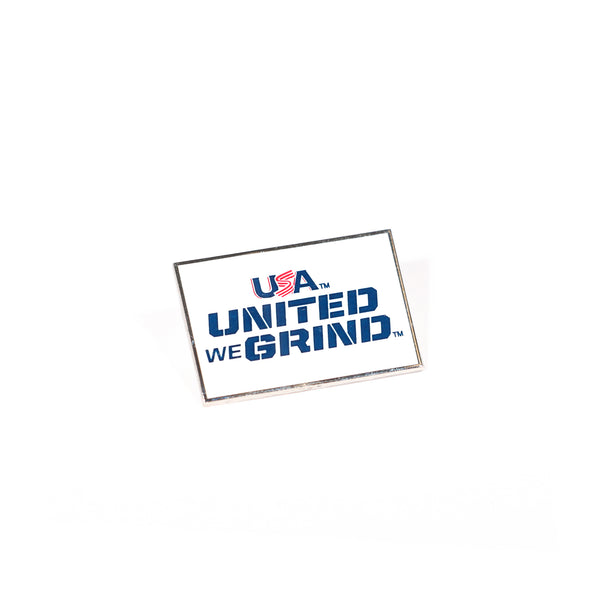United We Grind Lapel Pin