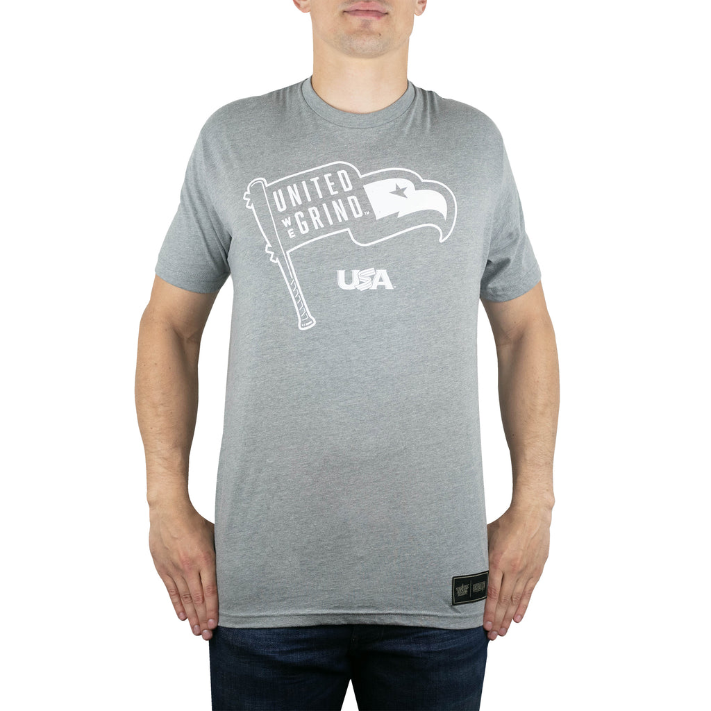 Baseballism Grey Eagle Tee
