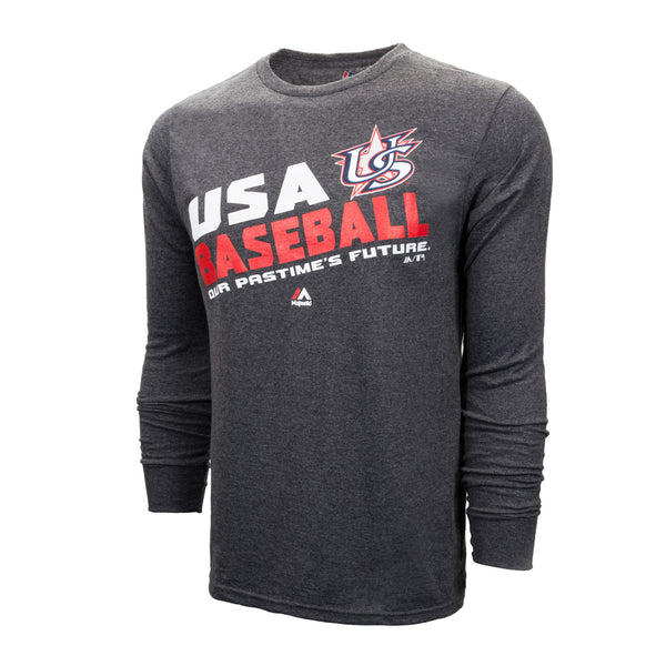 Charcoal Grey Long Sleeve Team Choice Tee