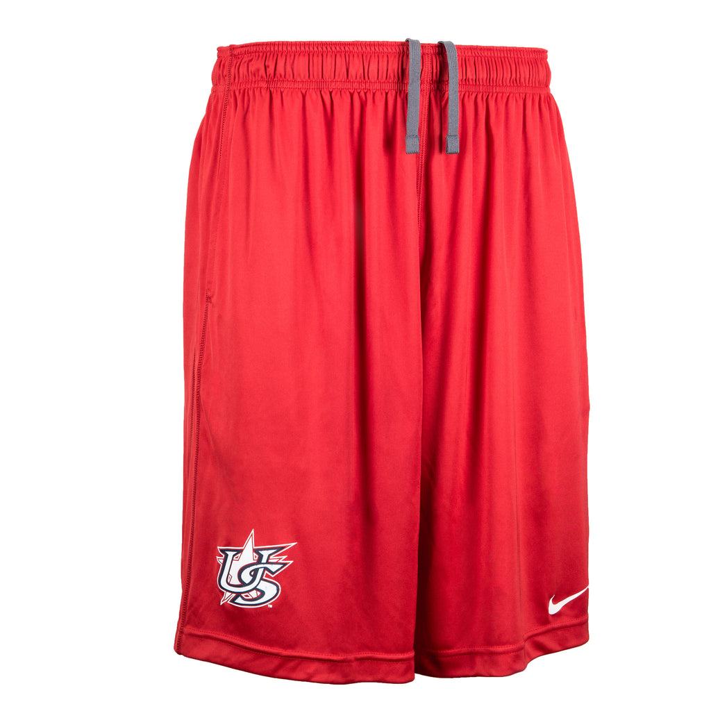Nike Red Shorts With Pockets