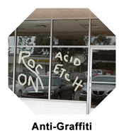 Anti-Graffiti window tinting films