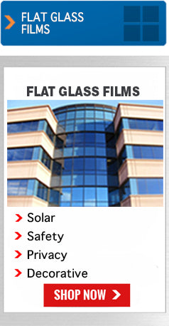 Flat glass window tinting films