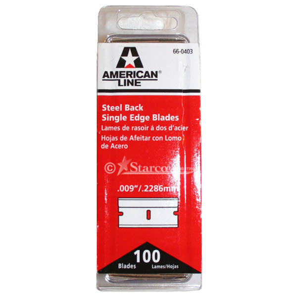 American Line Single-Edge Razor Blades, 100 pack