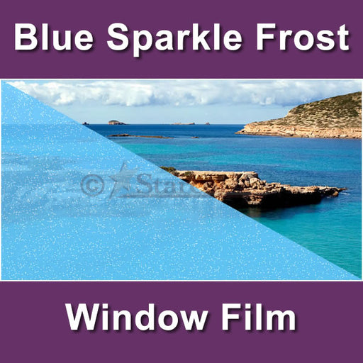 Blue Sparkle Frost Window Tinting Film