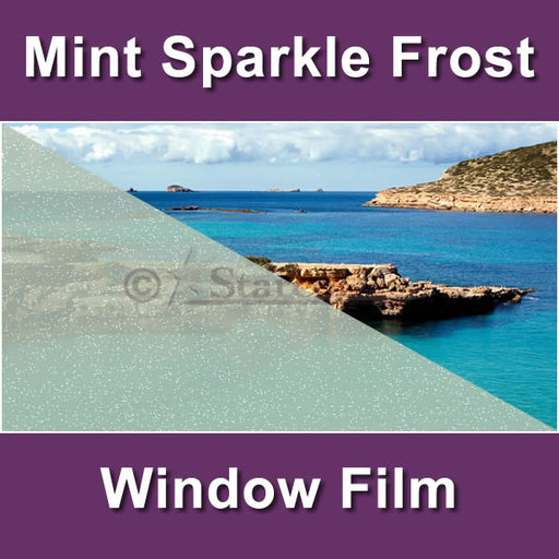 Mint Sparkle Frost Window Tinting Film