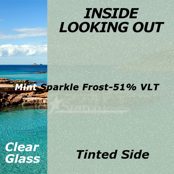 Mint Sparkle Window Tinting Film