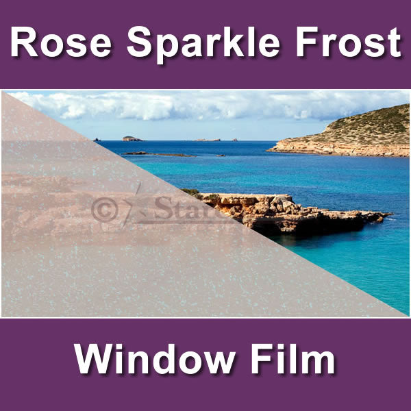 Rose Sparkle Frost Window Tinting Film