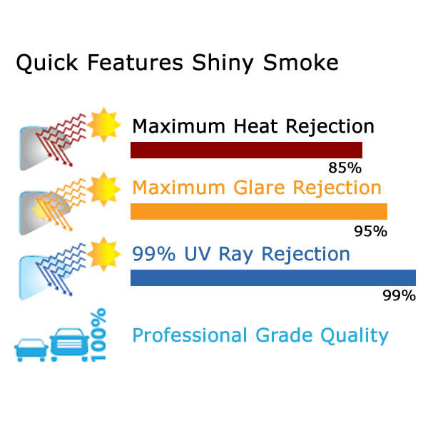 Shiny Smoke Window Tinting Film