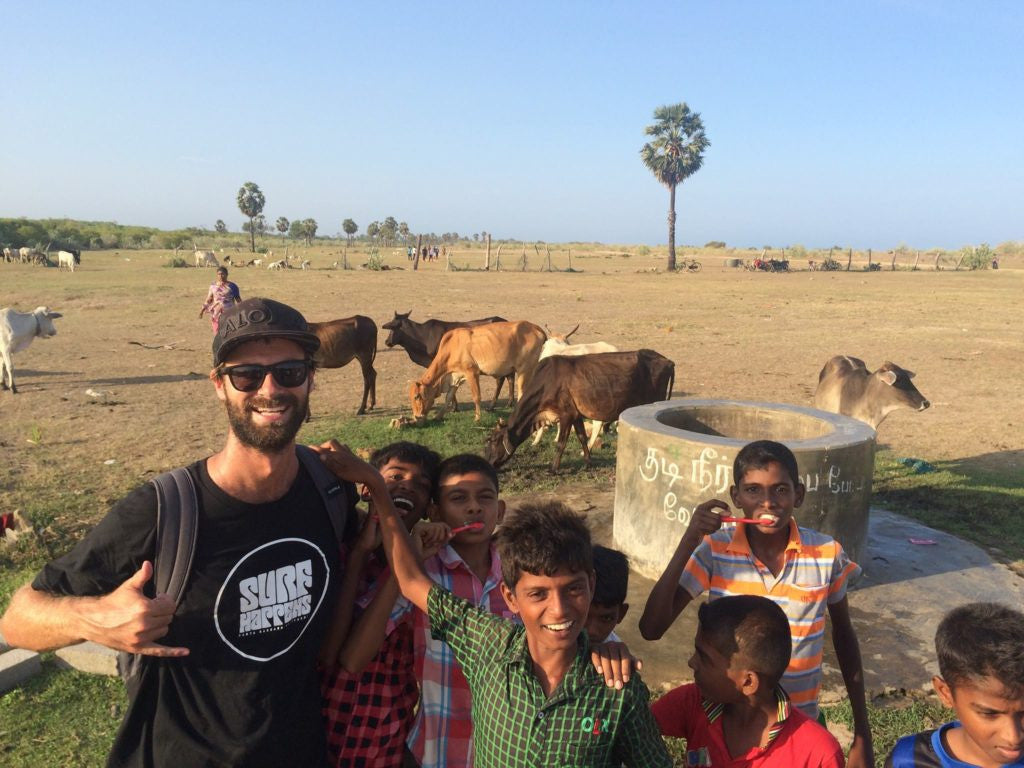 hanging with kids in sri lanka