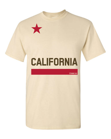 California Flag Mens Tee - Natural