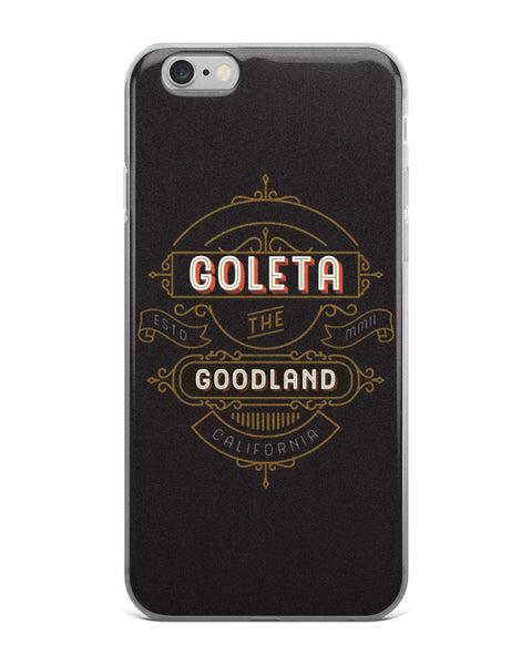 goleta the goodland black iphone case