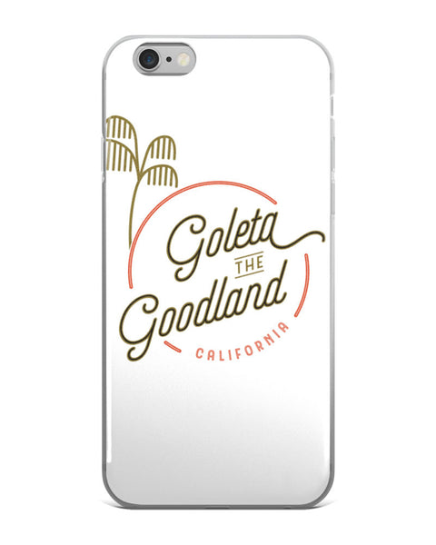 goleta the goodland black iphone case white