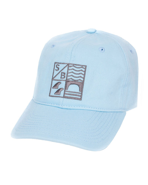 Sundance Beach Dad hat surf california cap hat blue