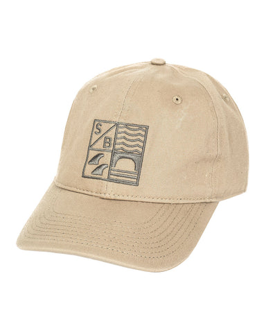 Sundance Beach Dad hat surf california cap hat khaki
