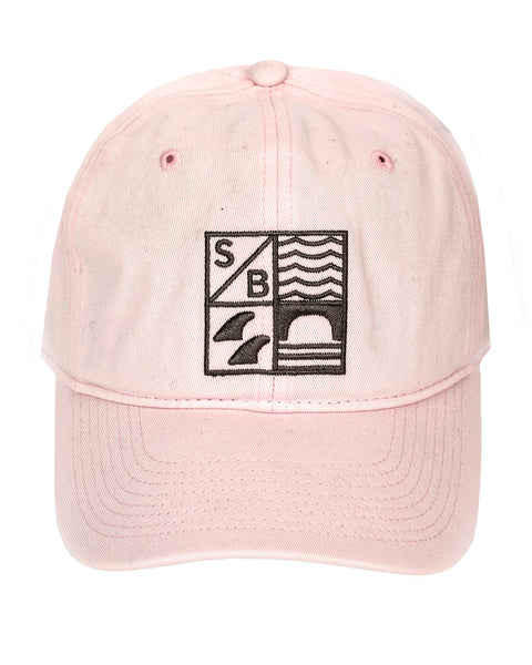 Sundance Beach Dad hat surf california cap hat pink front