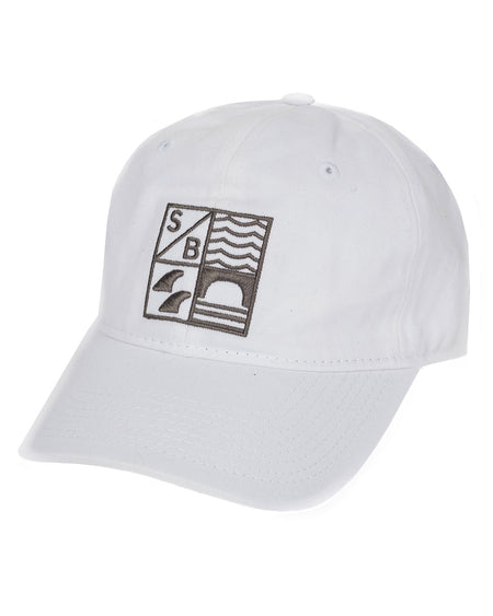 Sundance Beach Dad hat surf california cap hat white
