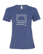 Sundance Beach Linear Waves Women's Tee - Dark Heather Gray