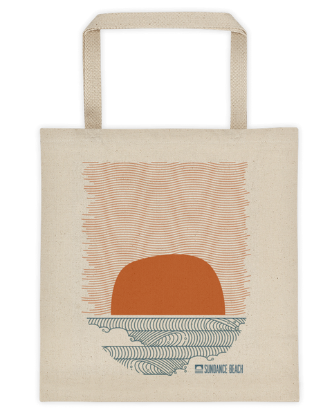 Sundance Beach Wavey Dayz Canvas Beach Tote Bag