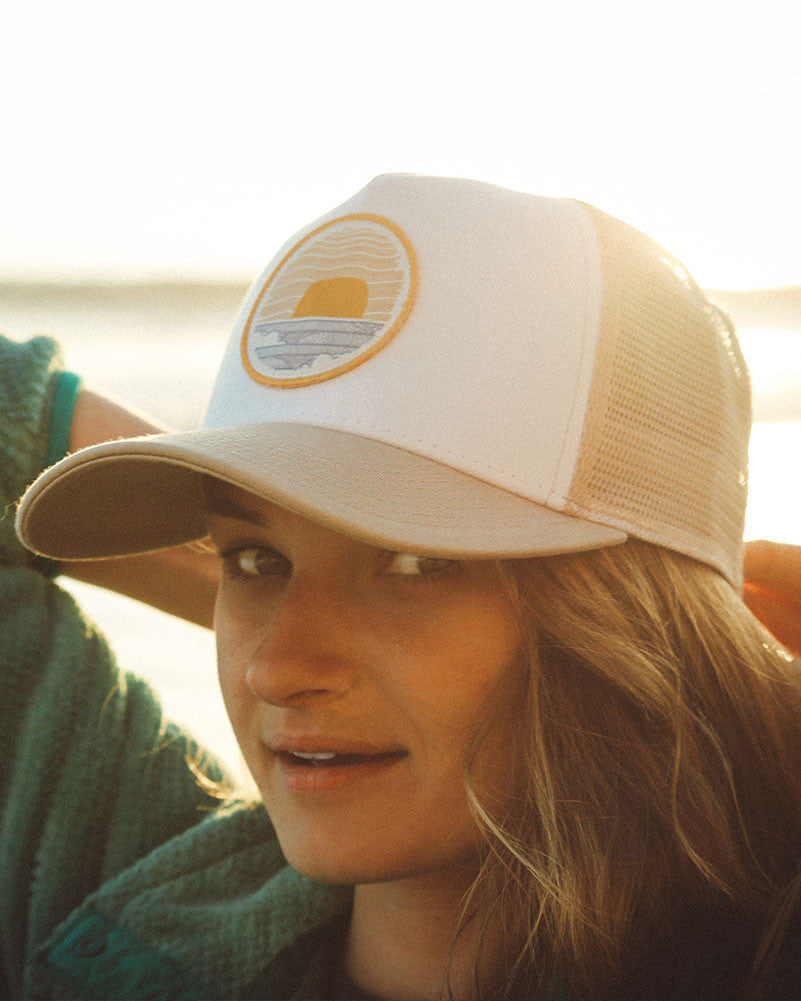 Sundance Beach Wavey Dayz Womens Trucker Hat Khaki