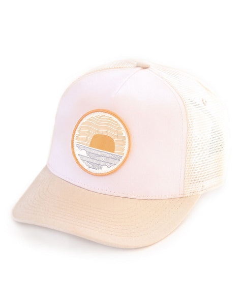 Sundance Beach Wavey Dayz Womens Surfer Trucker Hat Pink