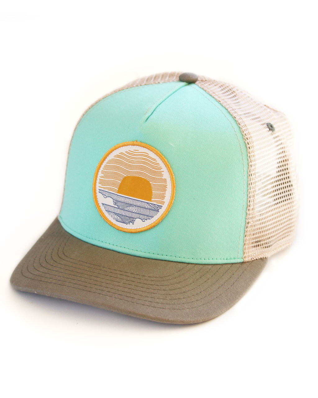 Sundance Beach Wavey Dayz Womens Surfer Trucker Hat Green