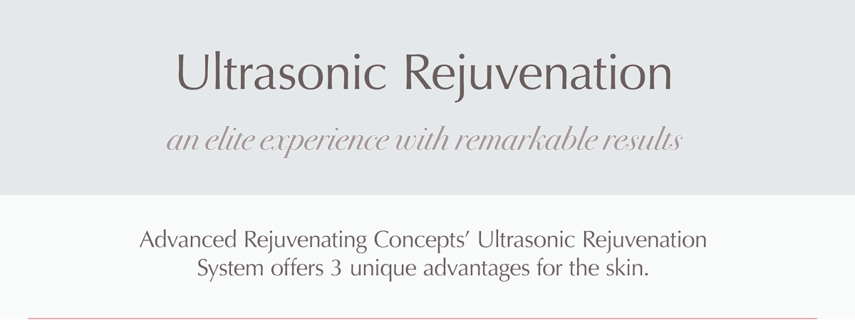 Ultrasonic Rejuvenation for Aging Skin, Acne, Rosacea