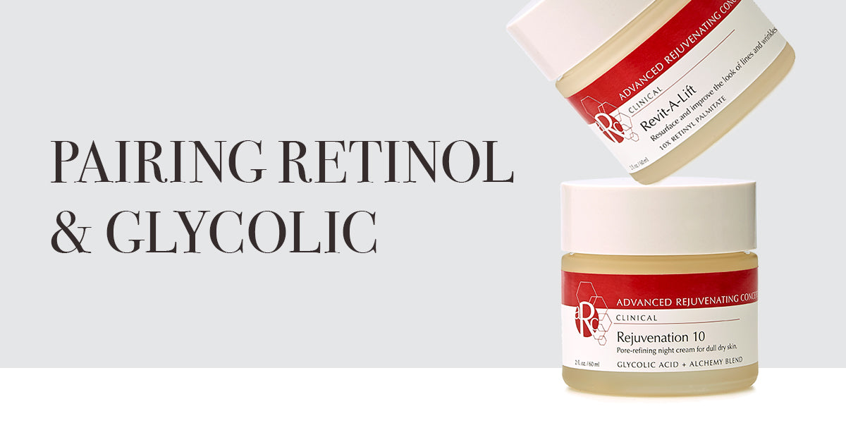 Retinol and glycolic pairing for skin rejuvenation