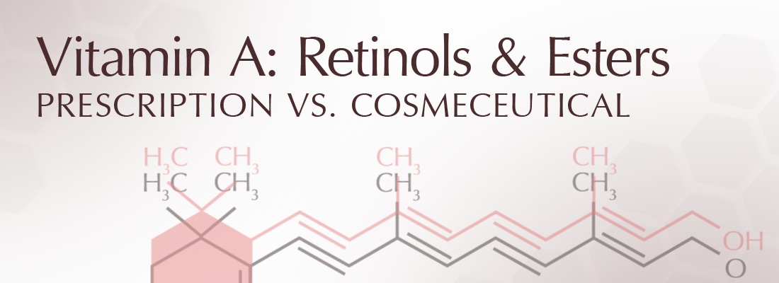 Vitamin A: Retinol and its esters. Prescription vs. Cosmeceutical
