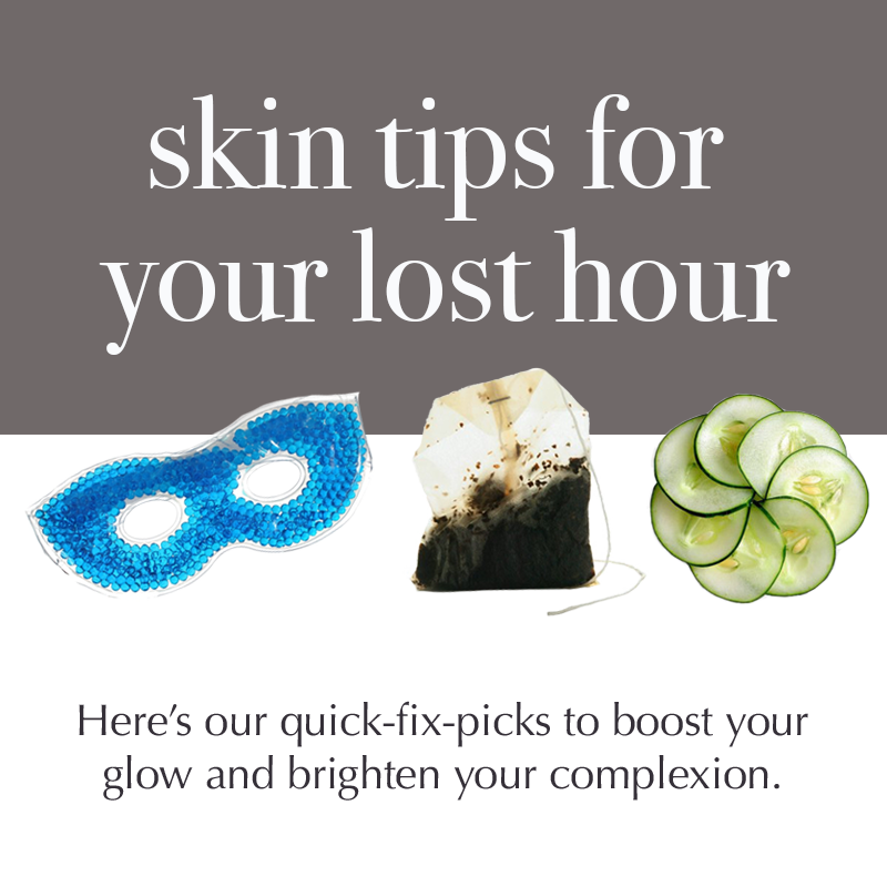 Beauty Sleep: Making up for your lost hour.