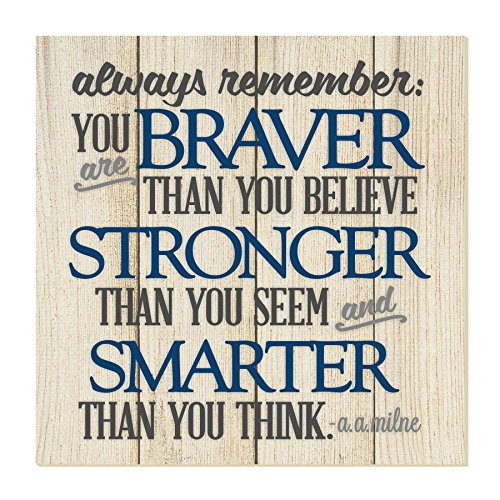 Always Remember You are Braver Thank You Think Wall Sign