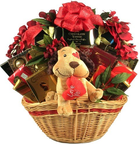 Deluxe Happy Valentine's Day Gift Basket