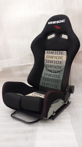 Bride GIAS Style Racing Bucket Seat Reclinable Wide Spec (Black FRP)