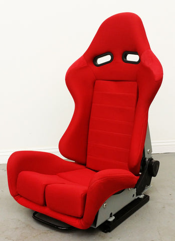 GS Reclinable Bucket Seat All Red