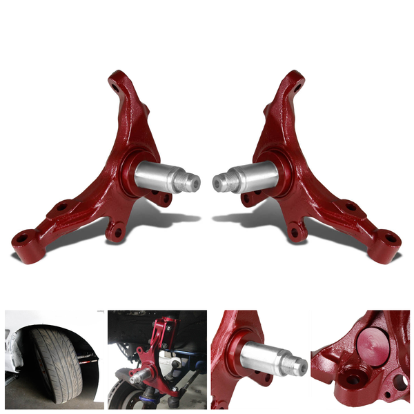 S S Drift Angle Knuckle Red Grande on Subaru Tie Rod Replacement