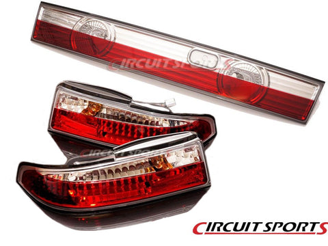 95-96 240SX S14 Zenki Crystal Clear 3PC Tail Light Set