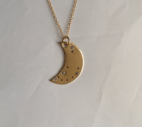 Crescent Moon Constellation Pendant
