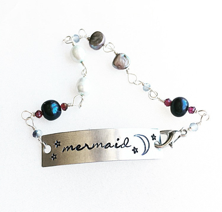 Mermaid Accessories ~ Mermaid ID Pearl Bracelet