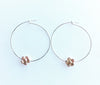 Floral Hoop Earrings