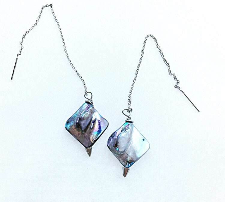 Ocean Inspirations ~ Stingray Threader Earrings