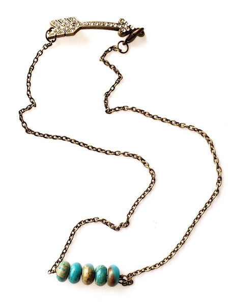 As Seen on Baby Daddy - Jasper Two Way Necklace