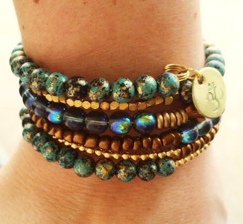 As Seen On The Fosters - Beaded OM Wrap Bracelet