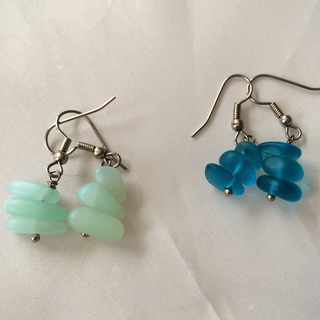 Sea Glass Stack Earrings