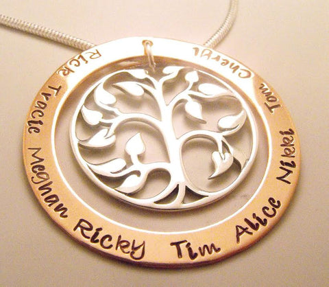 Large Family Tree of Life Necklace