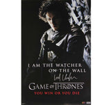 Kit Harington Signed Game of Thrones 24×36 – I am the Watcher on the Wall Poster