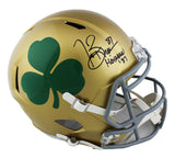 "Tim Brown Signed Notre Dame Fighting Irish ""Shamrock"" Speed Full Size NCAA Helmet with ""Heisman 87"" Inscription"