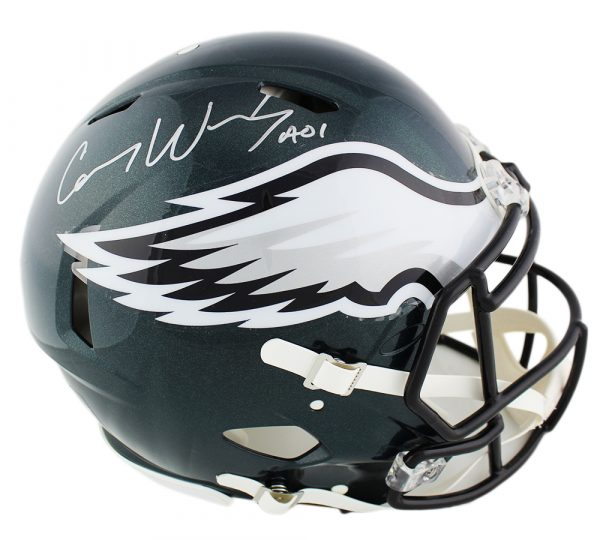 Carson Wentz Signed Philadelphia Eagles Speed Authentic NFL Helmet