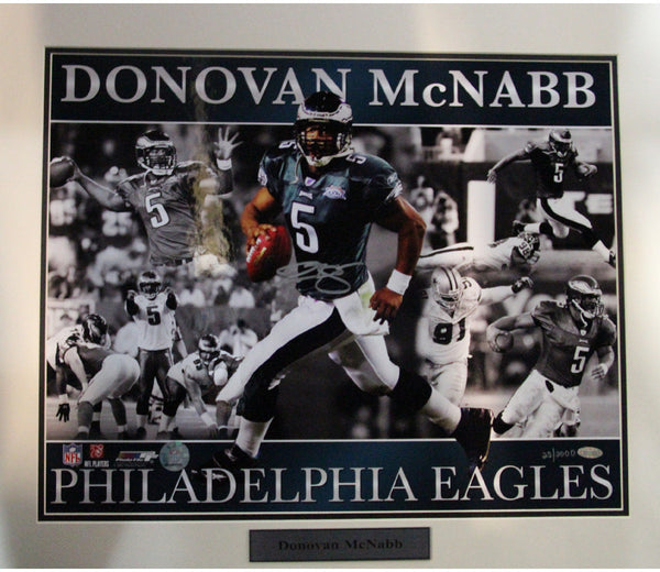 Donovan McNabb Eagles with Ghosting Matted Signed 16x20 Collage Photo (LE/2000)