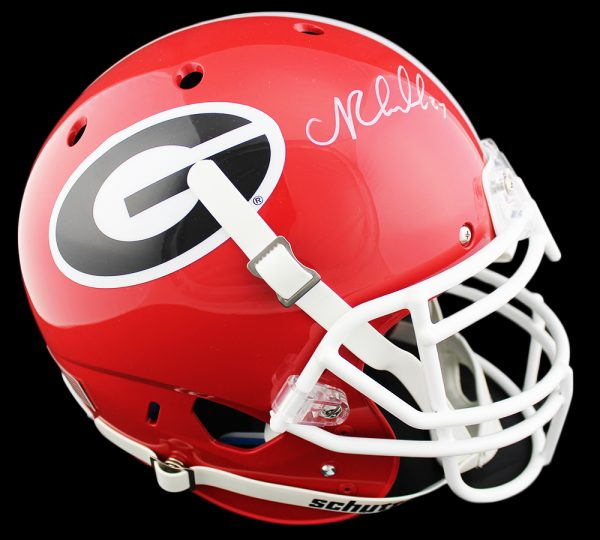 Nick Chubb Signed Georgia Bulldogs Schutt Authentic NCAA Helmet
