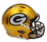 Brett Favre Signed Green Bay Packers Speed Full Size Chrome NFL Helmet