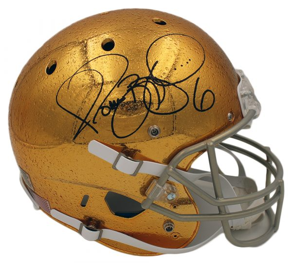 Jerome Bettis Signed Notre Dame Schutt Full Size Raindrop NCAA Helmet